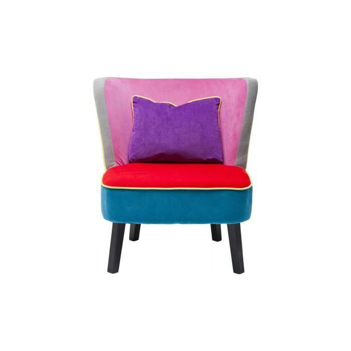 Fauteuil club multicolore kare design achat vente for Fauteuil multicolore design