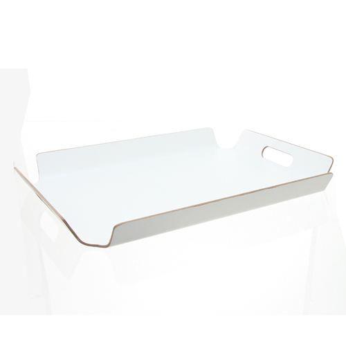 plateau repas rectangulaire bois blanc achat vente plat de service cdiscount. Black Bedroom Furniture Sets. Home Design Ideas