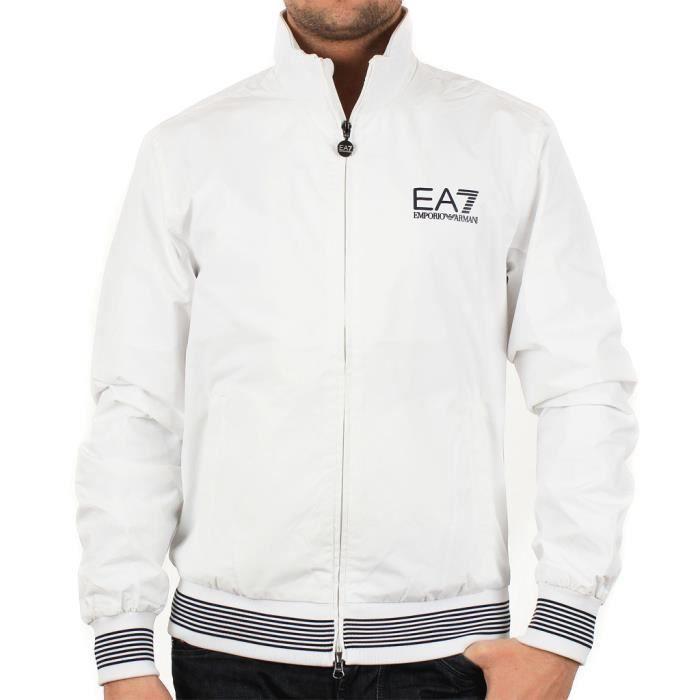 veste homme ea7 emporio armani blanc achat vente veste soldes d hiver d s le 11 janvier. Black Bedroom Furniture Sets. Home Design Ideas