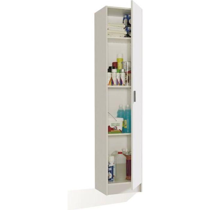 armoire avec 1 porte et 4 tag res coloris bla achat. Black Bedroom Furniture Sets. Home Design Ideas
