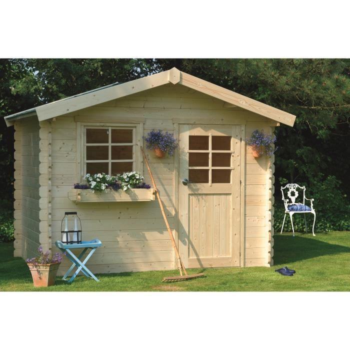 Abri de jardin sologne 298x298cm 7 53m utiles achat vente abri jardin - Achat abris de jardin ...