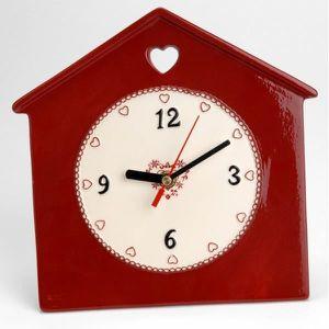 Horloge cuisine rouge achat vente horloge cuisine rouge pas cher cdiscount for Horloge murale rouge cuisine