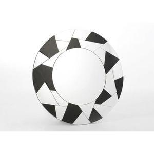 miroir rond noir achat vente miroir rond noir pas cher cdiscount. Black Bedroom Furniture Sets. Home Design Ideas