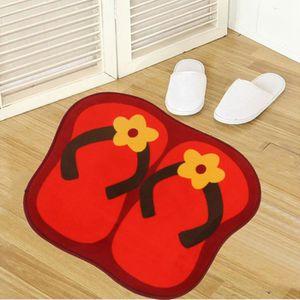 Tapis de bain rouge achat vente tapis de bain rouge pas cher for Decoration salle de bain rouge