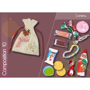 CONFISERIE DE CHOCOLAT POCHON RENNE DE NOEL GARNI FRIANDISES ET CHOCOLATS