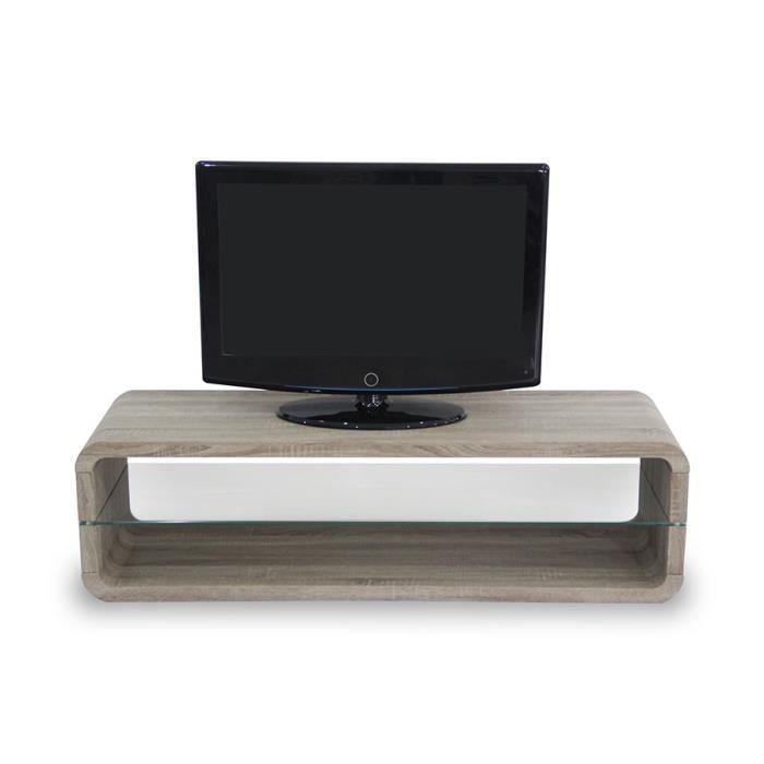 Meuble tv couleur ch ne clair ou ch ne fonc contemporain for Meuble tv couleur chene