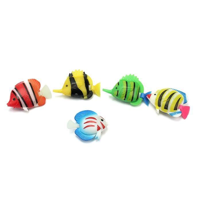 5x poissons artificielle en plastique d coration pour for Jouet aquarium poisson