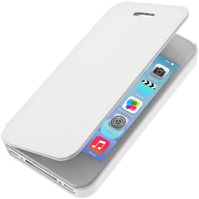 etui folio ultra fin apple iphone 4 4s blanc achat. Black Bedroom Furniture Sets. Home Design Ideas