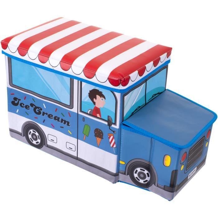 coffre de rangement banc marchand de glace achat vente coffre jouets 4005544001878 cdiscount. Black Bedroom Furniture Sets. Home Design Ideas