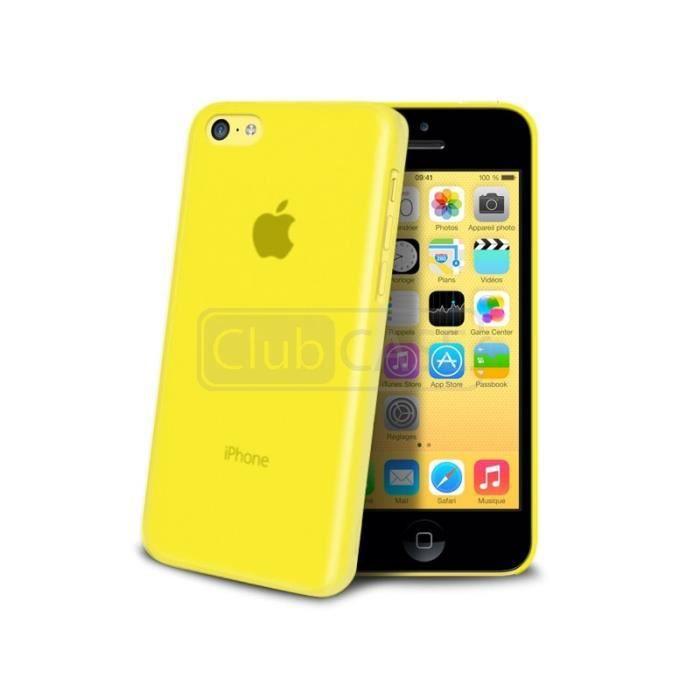 coque translucide ultra fine iphone 5c jaune achat. Black Bedroom Furniture Sets. Home Design Ideas