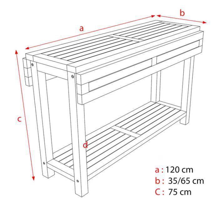 table de jardin console 120 x 40 70cm cante achat. Black Bedroom Furniture Sets. Home Design Ideas