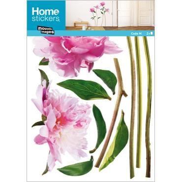 Stickers muraux adhesif mural xxl pivoines roses achat - Decoration stickers muraux adhesif ...