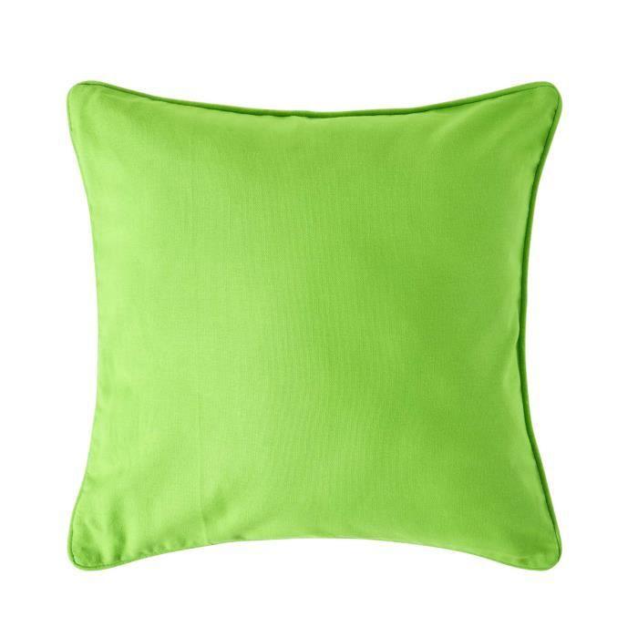 Coussin d houssable vert 45 x 45 cm achat vente housse - Housse de coussin 45 x 45 ...