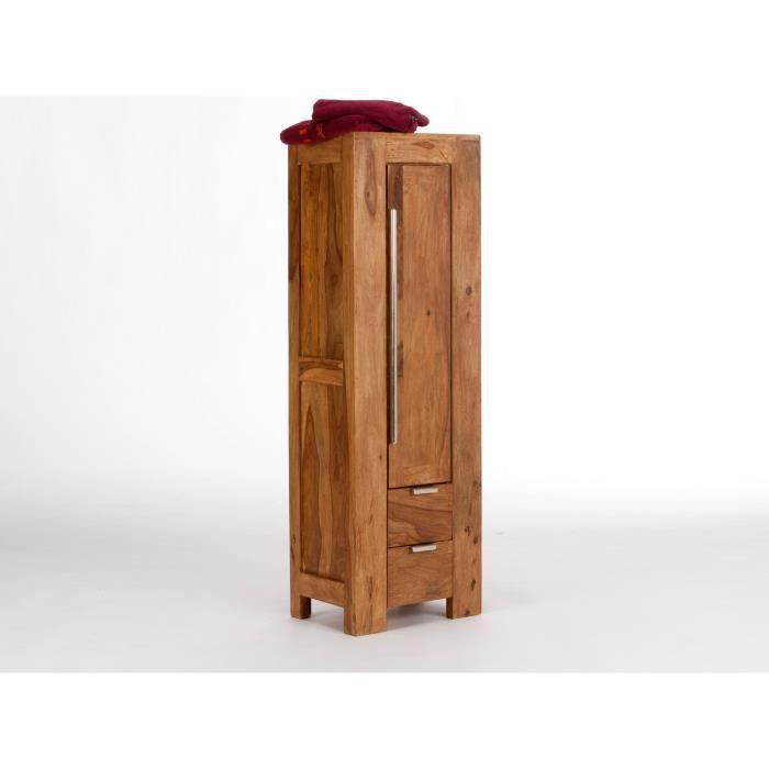 armoire haute stark 130cm en palissandre laqu teck. Black Bedroom Furniture Sets. Home Design Ideas