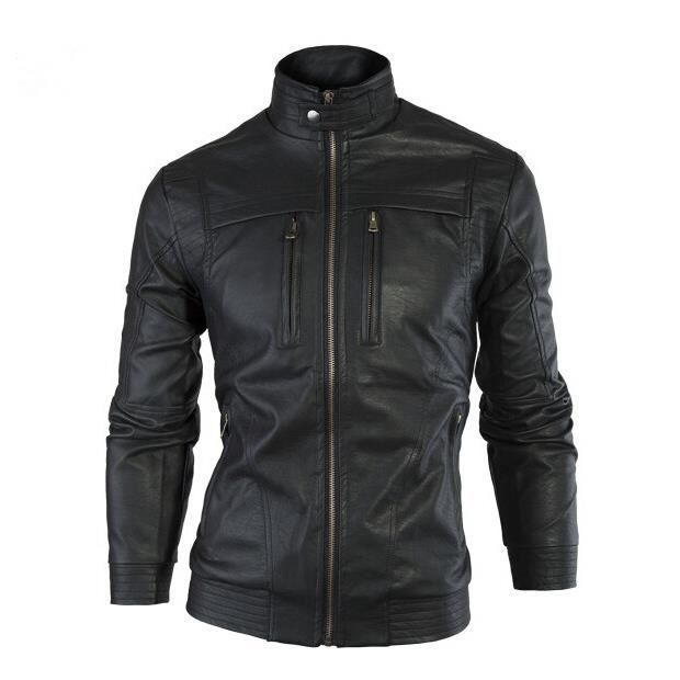 surprise blouson en cuir homme moto manteau hiver jacket. Black Bedroom Furniture Sets. Home Design Ideas