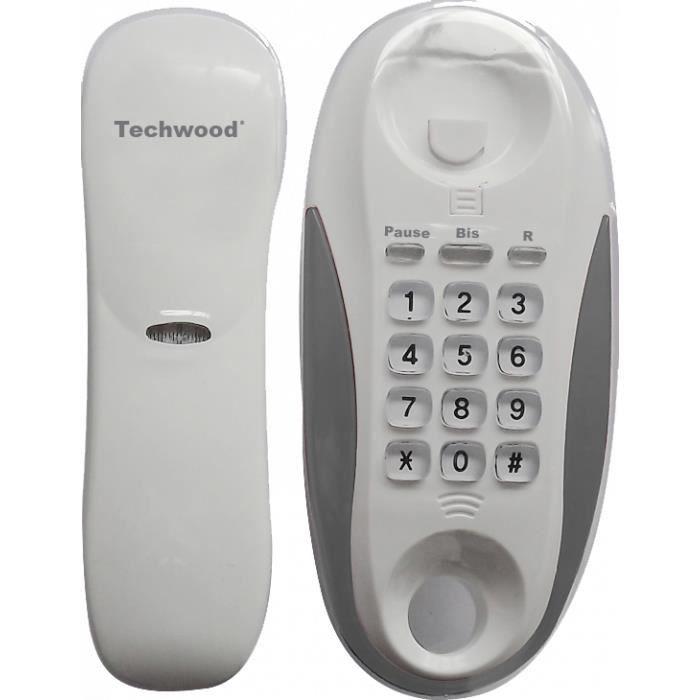 techwood t 233 l 233 phone filaire blanc gris tl 99 achat t 233 l 233 phone fixe pas cher avis et meilleur