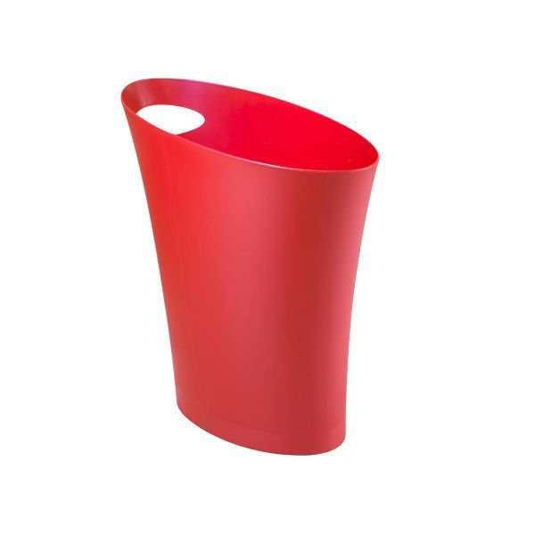 poubelle papier design skinny rouge achat vente poubelle corbeille poubelle papier. Black Bedroom Furniture Sets. Home Design Ideas