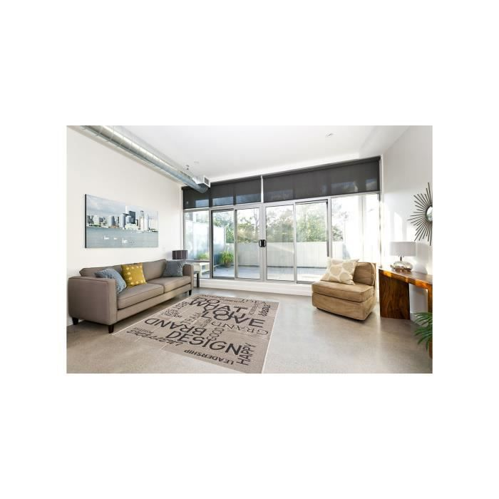 tapis tapis chambre tapitapo beige 160x230 par unamourdetapis achat vente tapis cdiscount. Black Bedroom Furniture Sets. Home Design Ideas