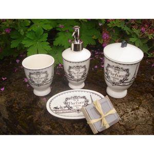 Set 4 accessoires de salle de bain achat vente set 4 - Accessoire de salle de bain pas cher ...