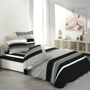 parure drap plat drap housse 2 taie d oreiller 140x190 coton achat vente parure drap plat. Black Bedroom Furniture Sets. Home Design Ideas