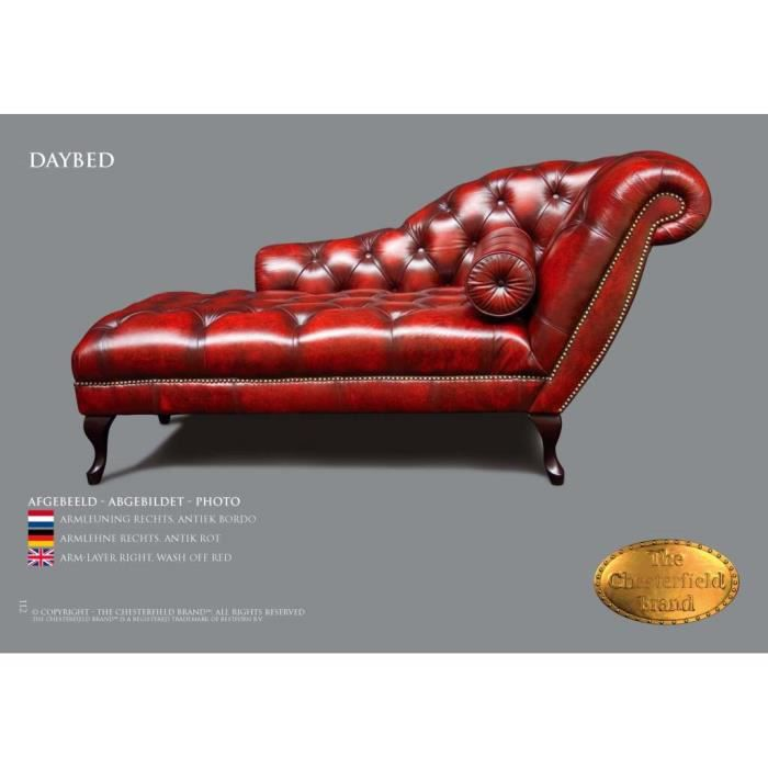 Lit canap chesterfield daybed nom rouge achat vente fauteuil soldes - Canape lit chesterfield ...