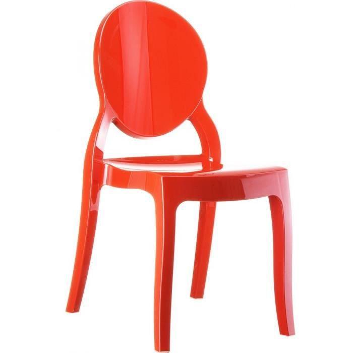 Chaise elizabeth m daillon empilable rouge achat vente chaise noir cdis - Chaise elizabeth blanche ...