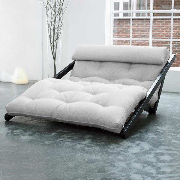 Convertible figo 120 weng futon flax achat vente canap sofa divan - Futon convertible 1 place ...