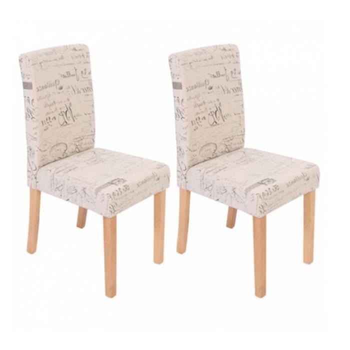 Chaise de salle manger lot de 2 boka bois clair achat for Chaises de salle a manger avec accoudoirs