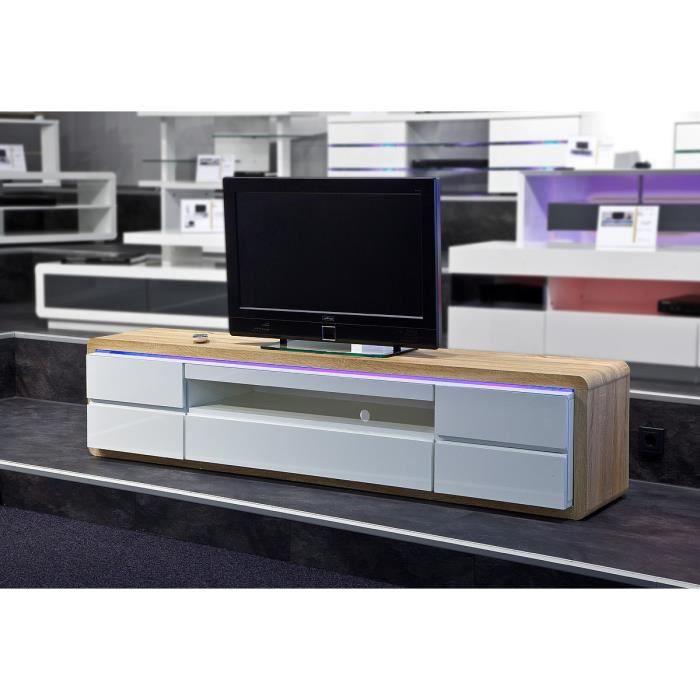 meuble tv hifi vid o 190 cm tramway l 190 x p 40 achat vente meuble tv meuble tv hifi. Black Bedroom Furniture Sets. Home Design Ideas