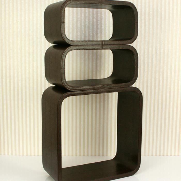 tag re cube murale de 3 pi ces en cuir synth t achat. Black Bedroom Furniture Sets. Home Design Ideas
