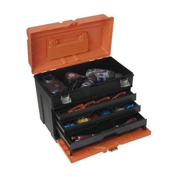 boite rangement cadenassable 3 tiroirs ptb303440 achat vente boite caisse a outil cuivre. Black Bedroom Furniture Sets. Home Design Ideas