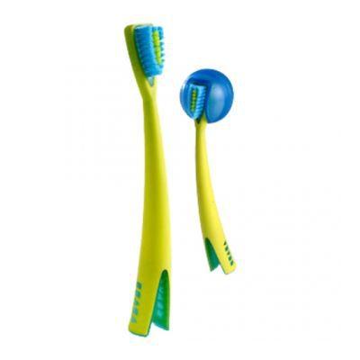 brosse dents bleue 1er ge avec support b aba achat. Black Bedroom Furniture Sets. Home Design Ideas