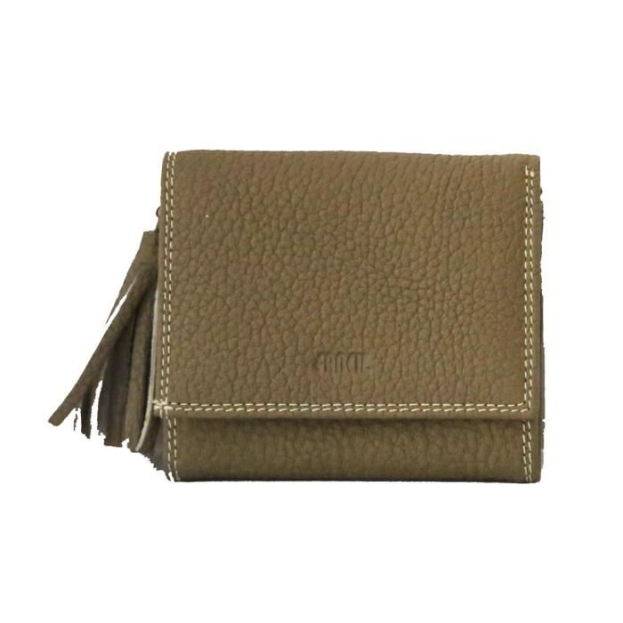 Fancil porte monnaie porte cartes cuir couleur taupe gris taupe achat vente porte monnaie for Porte couleur taupe