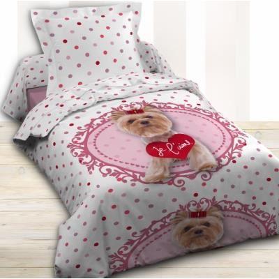 housse de couette et taie d 39 oreiller je l 39 aime achat vente housse. Black Bedroom Furniture Sets. Home Design Ideas