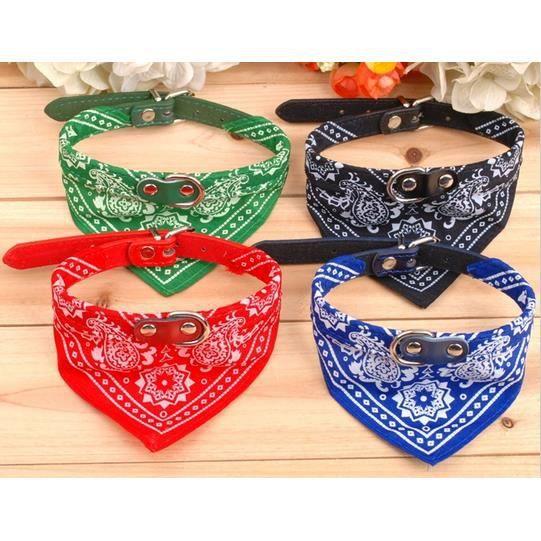 collier bandana pour chien chat vert achat vente collier collier bandana pour chien vert. Black Bedroom Furniture Sets. Home Design Ideas