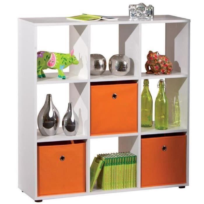 Paris prix meuble de rangement 9 compartiments kase for Meuble 9 cases blanc