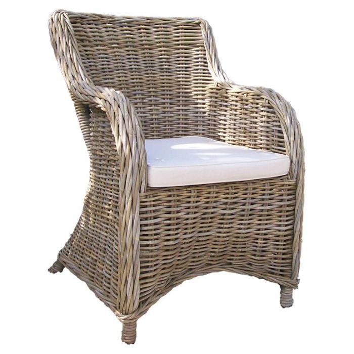 fauteuil en kubu gris avec coussin grace tek im achat vente fauteuil gris cdiscount. Black Bedroom Furniture Sets. Home Design Ideas