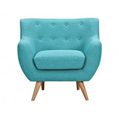 fauteuil en tissu serti bleu turquoise avec bou achat vente fauteuil bleu cdiscount. Black Bedroom Furniture Sets. Home Design Ideas