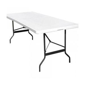 table pliante 8 personnes achat vente table pliante 8 personnes pas cher cdiscount. Black Bedroom Furniture Sets. Home Design Ideas