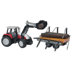 voiture construire tracteur steyr cvt 170 avec fourche et remorque f