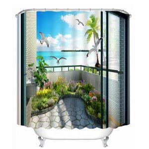rideau de douche paysage achat vente rideau de douche paysage pas cher cdiscount. Black Bedroom Furniture Sets. Home Design Ideas