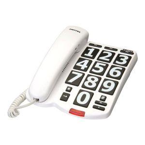 Téléphone fixe SWITEL TE18 TÉLÉPHONE FILAIRE BLANC