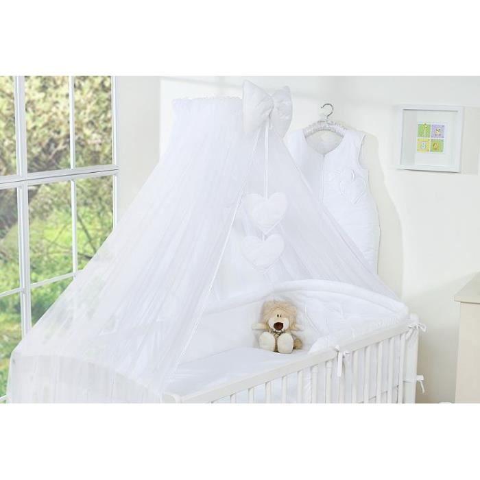 ciel de lit blanc taille xxl fl che support achat vente ciel de lit b b 2009961445880. Black Bedroom Furniture Sets. Home Design Ideas