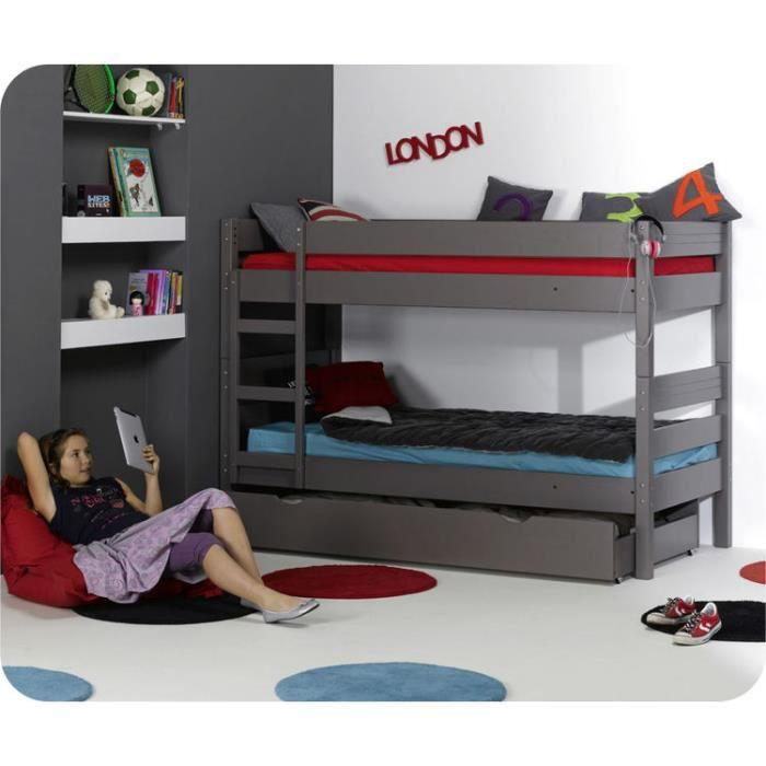 lit superpos enfant 1 2 3 couleur lin pictures to pin on. Black Bedroom Furniture Sets. Home Design Ideas