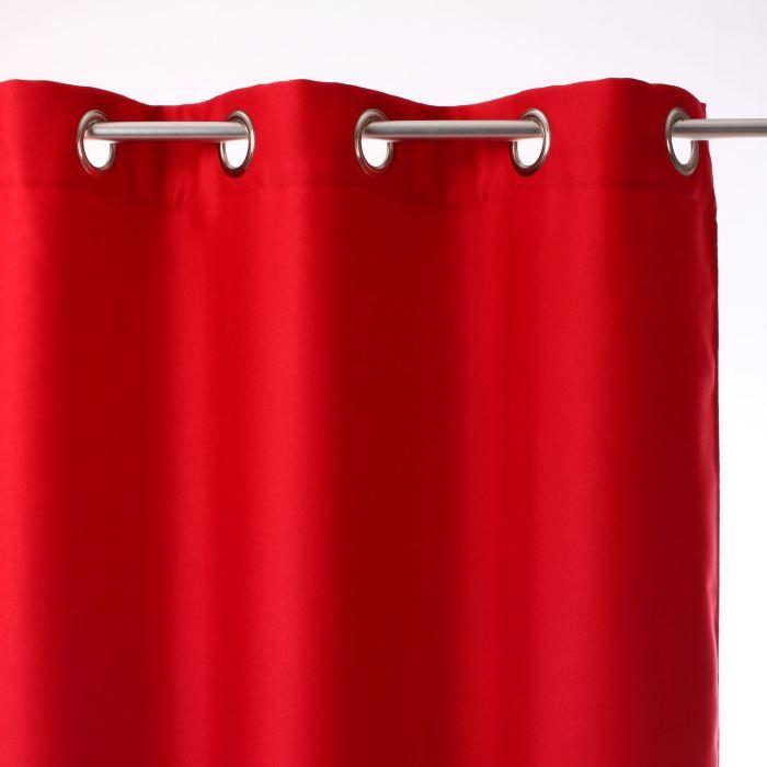 rideau a illets luxe rouge achat vente rideau m tal les soldes sur cdiscount cdiscount. Black Bedroom Furniture Sets. Home Design Ideas