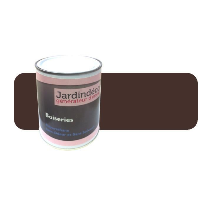 peinture brun chocolat pour meuble en bois brut 1 litre brun chocolat achat vente peinture. Black Bedroom Furniture Sets. Home Design Ideas