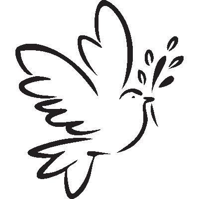 Pick and stick sticker mural colombe de la paix achat - Colombe en dessin ...