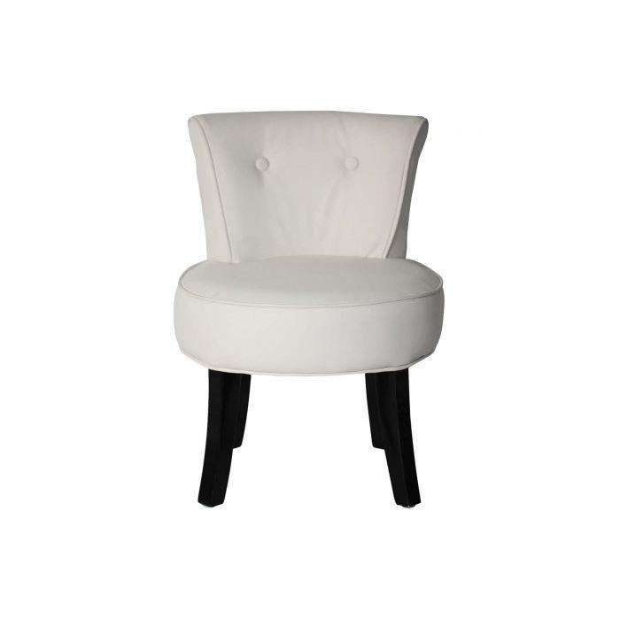 petit fauteuil crapaud louis pu blanc achat vente fauteuil blanc cdiscount. Black Bedroom Furniture Sets. Home Design Ideas