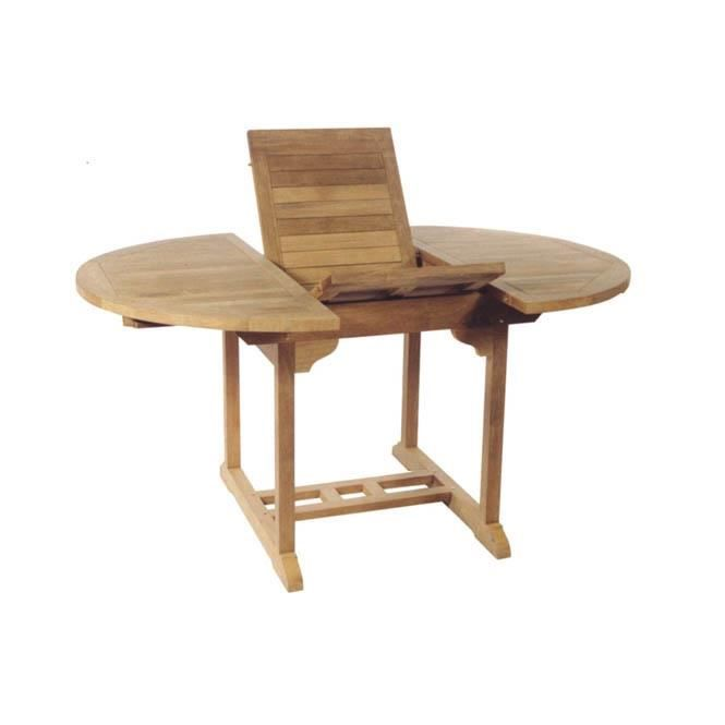 Table ronde manille teck brut achat vente table de - Table ronde teck ...