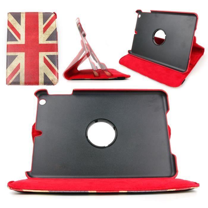 etui rotatif drapeau anglais pour ipad mini  mini 2 - prix pas cher